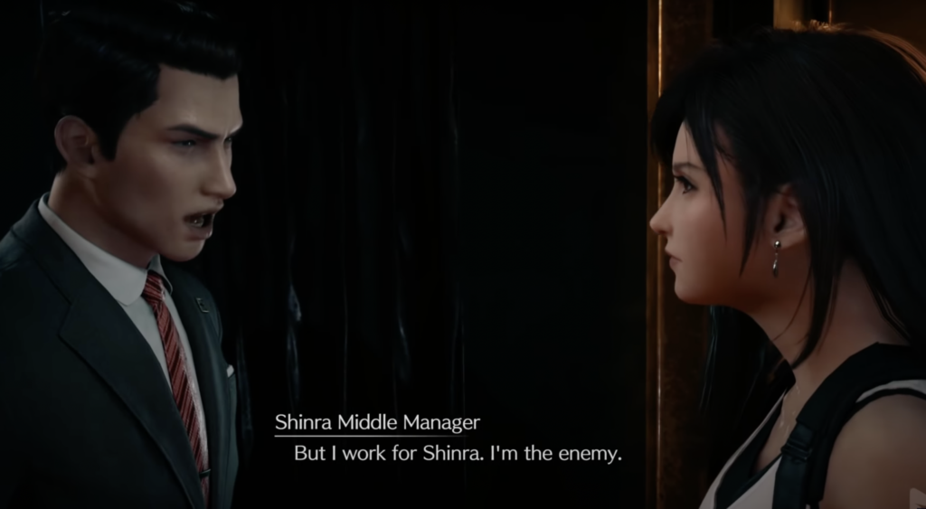 FF7R Tifa and Shinra manager